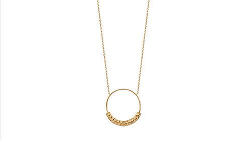 Collier plaqué or cercle