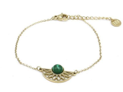 Bracelet en acier motif éventail