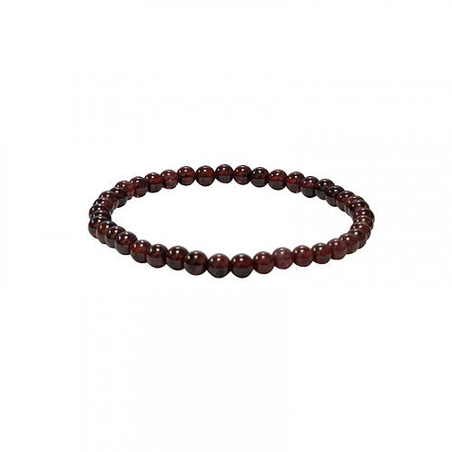 Bracelet en grenat rouge 8 mm
