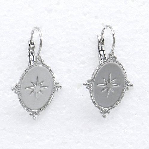 Boucles d'oreilles en acier motif étoile