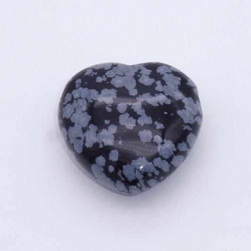 Pendentif coeur en obsidienne floconneuse