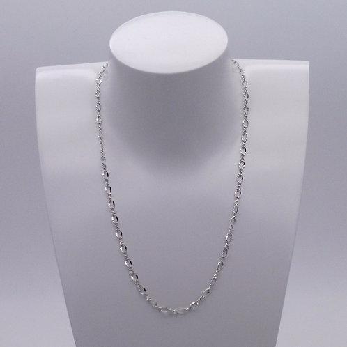 Chainette en métal rhodié 45 cm