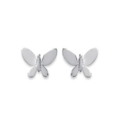 Puce en argent papillon