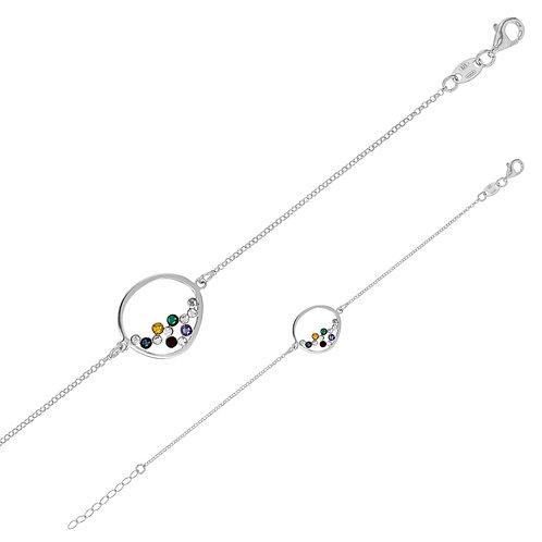 bracelet en argent motif ovale