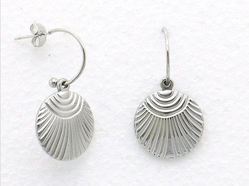 Boucles d'oreilles en acier argenté