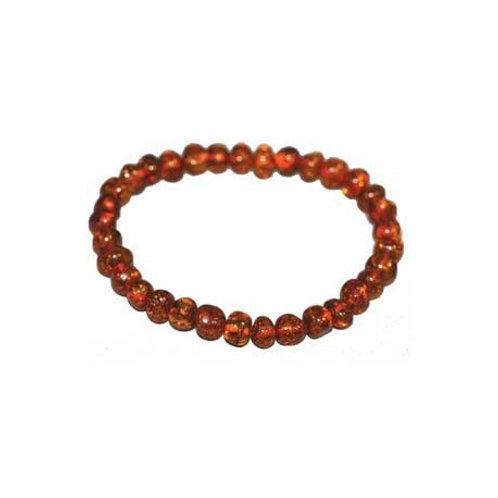 Bracelet en ambre brun