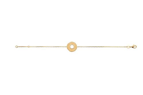 Bracelet en plaqué or cercle