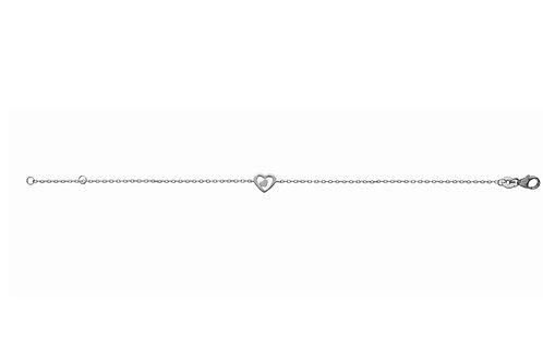 bracelet en argent motif coeur