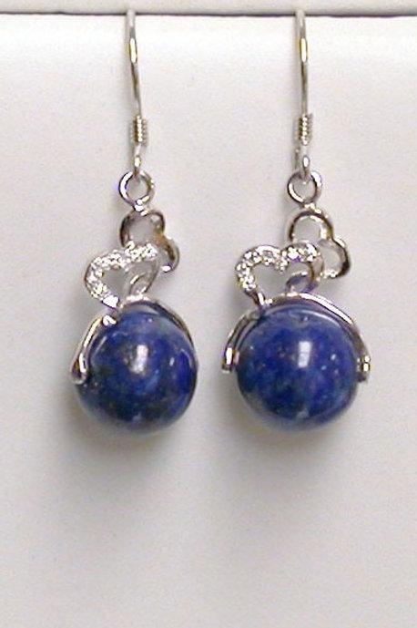 Boucle d'oreille en lapis lazuli
