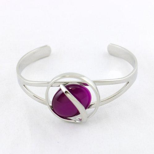 Bracelet Jonc Ouvert Violet