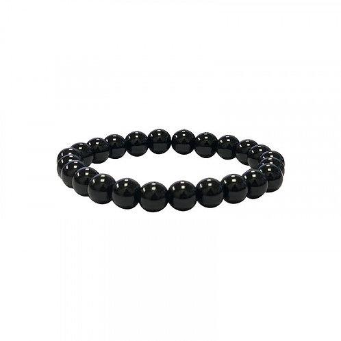 Bracelet en tourmaline noire 6 mm