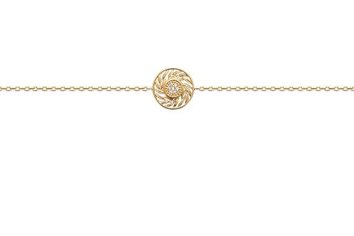 Bracelet en plaqué or et oxyde de zirconium