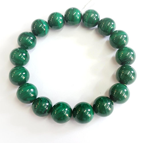 Bracelet en malachite 8 mm