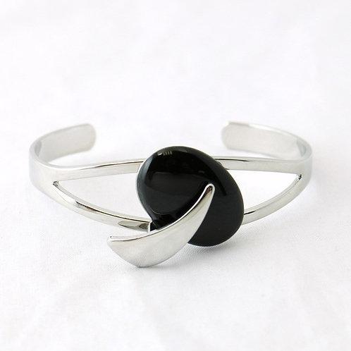 Bracelet Jonc Ouvert Noir