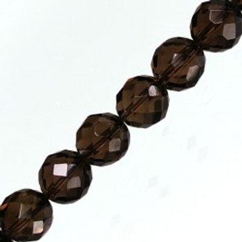 Bracelet quartz fumé 10 mm à facettes