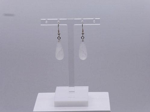 Boucle d'oreille longue en cristal de roche
