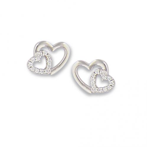 Boucles d'oreille en argent et oxyde de zirconium