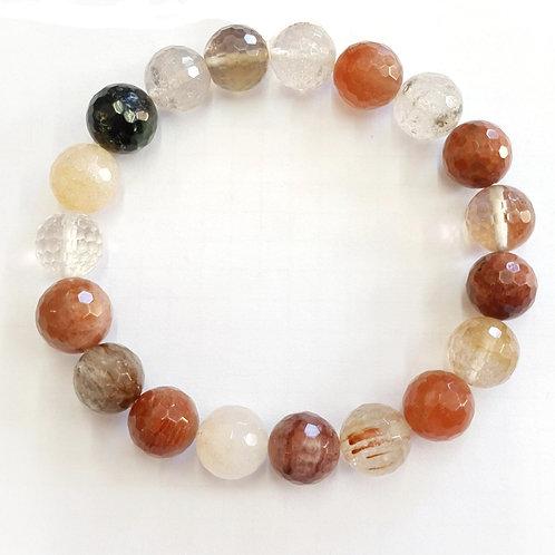 Bracelet quartz à rutiles