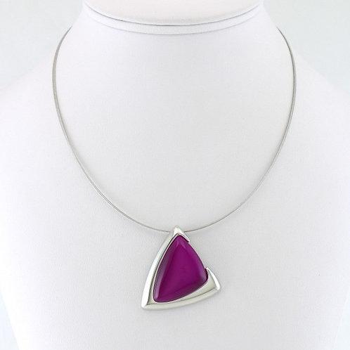 Collier avec Pendentif Triangle violet