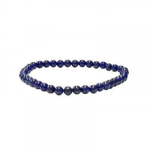 Bracelet en lapis lazuli 4 mm qualité A