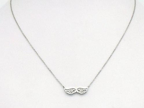 """Collier en acier motif """"ailes"""""""