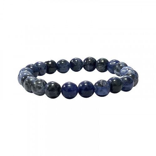 Bracelet en sodalite bleu foncé 8 mm