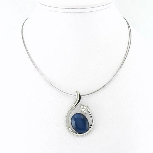 Collier avec pendentif Bleu