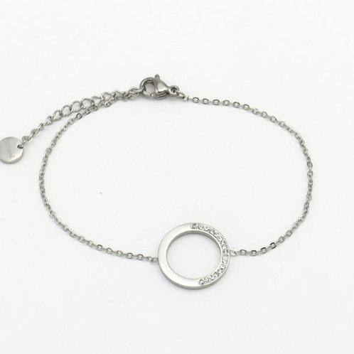 Bracelet en acier motif cercle