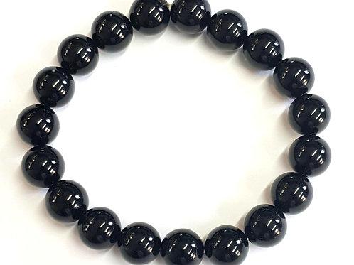 Bracelet en onyx noir 4 mm