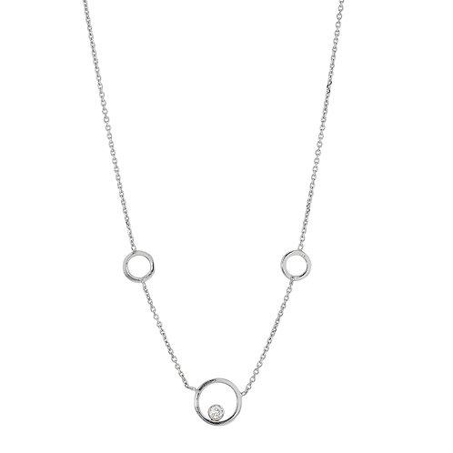 collier en argent motif 3 cercles