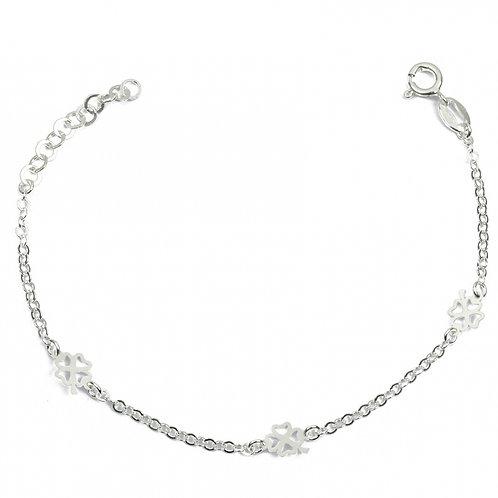 bracelet en argent trèfle