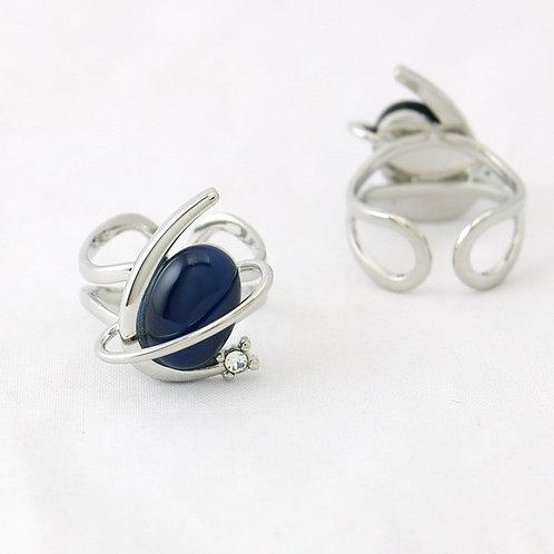 Bague Ovale Bleu