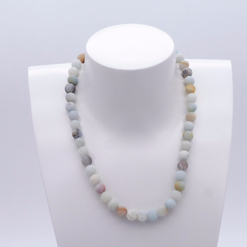 Collier en amazonite mat