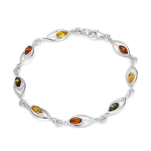 Bracelet en ambre et argent