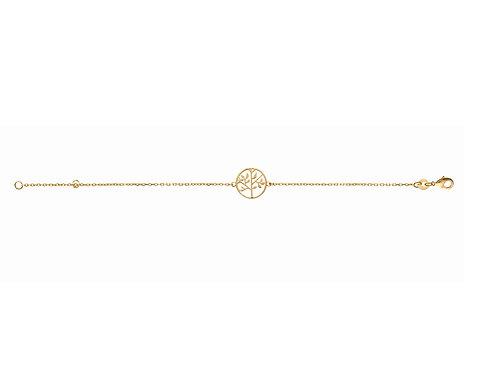 Bracelet en plaqué or arbre de vie