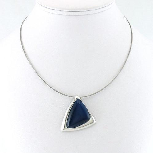 Collier avec pendentif Triangle Bleu Foncé
