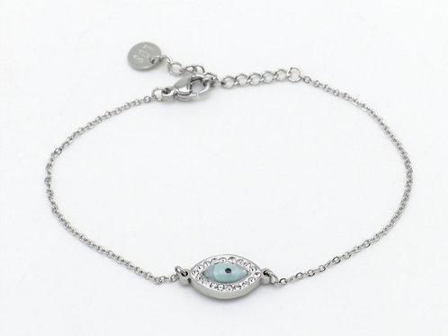 Bracelet en acier motif oeil