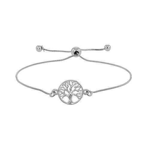 bracelet en argent motif arbre de vie