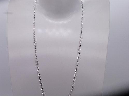 Chainette en métal rhodié 70 cm