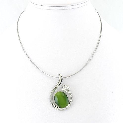 Collier avec pendentif Vert