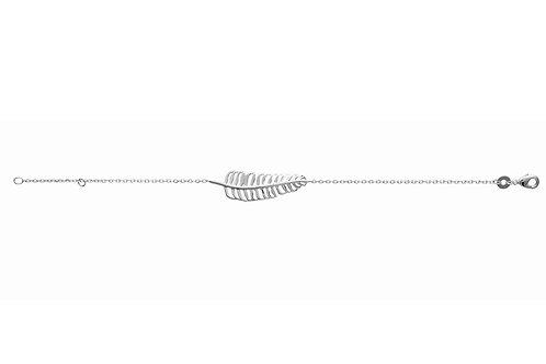 bracelet en argent motif feuille
