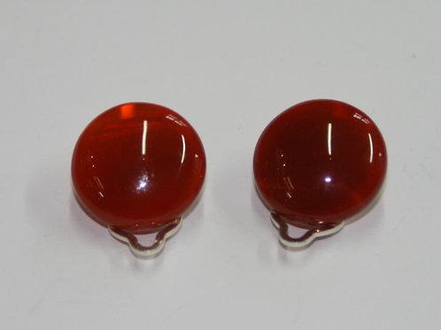 Clip en cornaline 20 mm