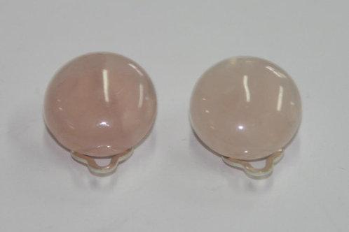 Clips en quartz rose