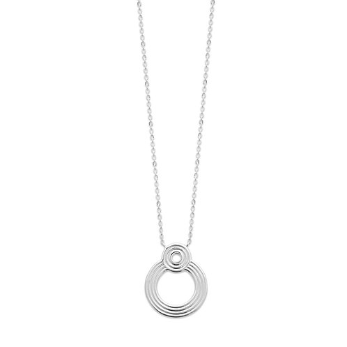 collier en argent avec pendentif rond