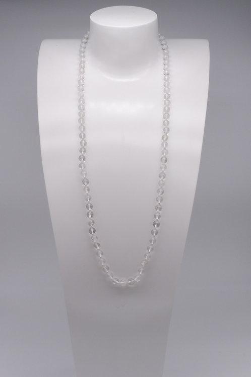 Collier en cristal de roche clair