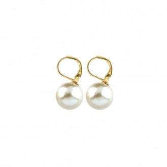 Boucles d'oreille en plaqué or et perle de majorque