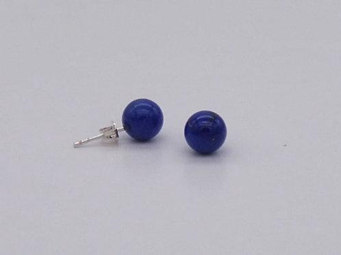 Boucle d'oreille en lapis lazuli 8 mm