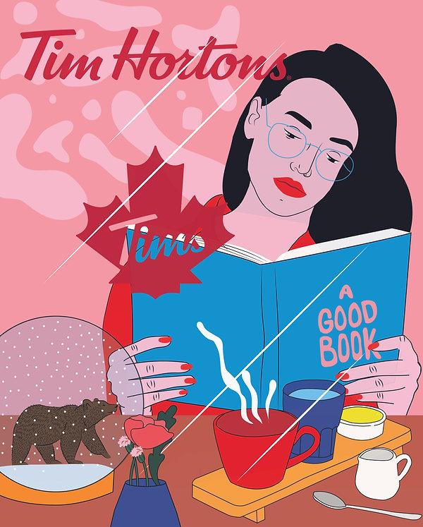 Kine Andersen, Tim Hortons, Nude Agency