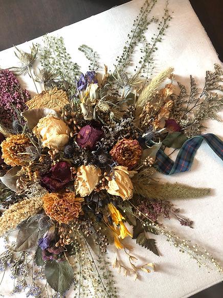 bouquet preservation, preserved wedding bouquet, preserved bridal flowers, dried floral art, wedding keepsake, wedding memento