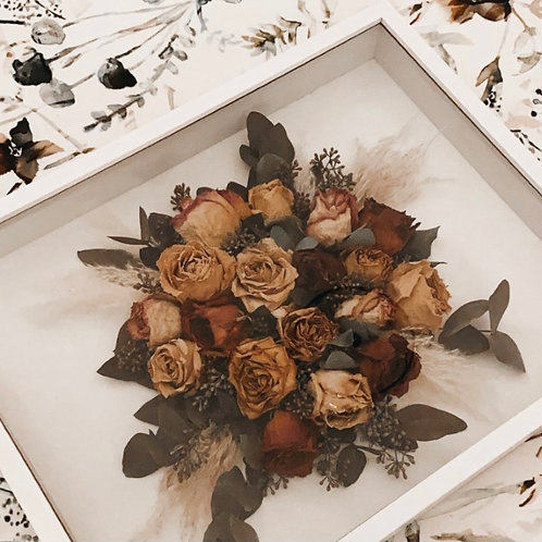 Shadow Box Bouquet Upcycling